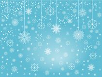 Snowflakes 1. Illustration of winner wallpaper with snowflakes and blue background Stock Images