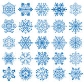 Snowflakes. Different forms of Snowflakes, illustration Stock Image