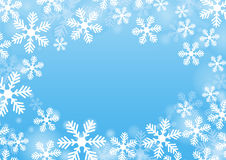 Snowflakes. Winter background with blue fill and snowflakes Royalty Free Stock Image