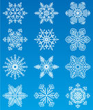 Snowflakes. Vector set of snowflakes (crystals stock illustration
