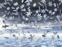 Snowflakes. Digital visualization of falling snowflakes Royalty Free Stock Image