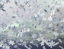 Snowflakes. Digital visualization of falling snowflakes Stock Image