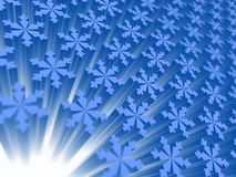 Snowflakes. Winter background, snowflakes in the long term with degradation Stock Images