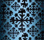 Snowflakes. Abstract background with black snowflakes Stock Images
