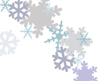 Snowflakes. Falling snowflakes on a white background Stock Illustration