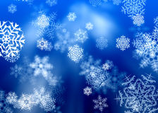 Snowflakes. Winter Christmas background with snowflakes royalty free stock photography