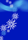 Snowflakes. Background and mysterious christmas night Royalty Free Stock Photo