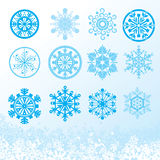 Snowflakes. Set for your design vector illustration