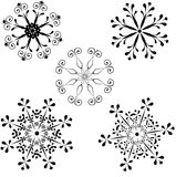 Snowflakes. Collection of decorative vector snowflakes Stock Photo