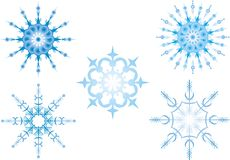 Snowflakes. Illustration, vector on white Royalty Free Stock Images