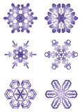 Snowflakes. Hot from the oven right to Cristmas and New Year vector illustration