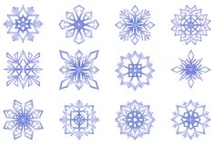 Snowflakes. Vector clipart: set of snowflakes Stock Photos