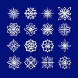 Snowflakes. Set of snowflakes  illustration Royalty Free Stock Images