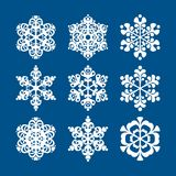 Snowflakes. On a blue background for the design Stock Photography