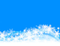 Snowflakes. The snowflake lies thick.Winter Image.Blue Royalty Free Stock Photo