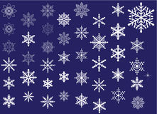 Snowflakes. As winter design element stock illustration