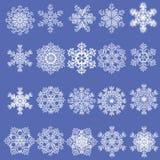 Snowflakes. Christmas set of white snowflakes Stock Photos