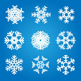 Snowflakes. Vector set of various snowflakes Stock Photography