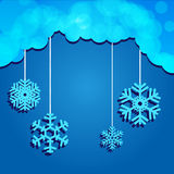 Snowflakes. Vector illustration of a cold winter Royalty Free Stock Image