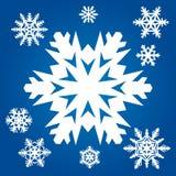 Snowflakes. Set from original white snowflakes Royalty Free Stock Photos