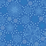 Snowflakes. Winter Christmas seamless background with snowflakes Stock Illustration
