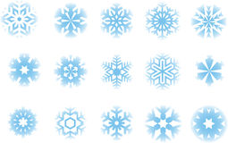 Snowflakes. Lots of different snowflake graphic elements Royalty Free Stock Image