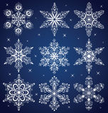 Snowflakes. Set of a pattern in a shape of a snowflake Stock Photography