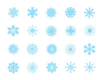 Snowflakes. 20 simple and nice  snowflakes Stock Photos