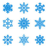 Snowflakes. Icon collection. Vector shape Stock Photos