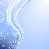 Snowflakes. Winter background with beautiful various snowflakes and christmas balls Stock Illustration
