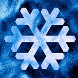 Snowflakes. 3d Blue background with snowflakes Royalty Free Stock Photo