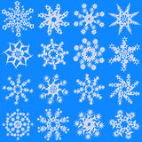 snowflakes royaltyfri illustrationer