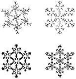 Snowflakes. Four artistic snowflakes vector illustration Royalty Free Stock Photography