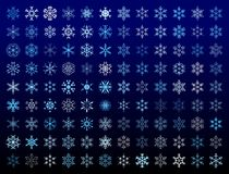 Snowflakes. Design collecition of 108 different artistic snowflakes Stock Photos