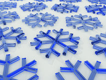 Snowflakes. 3D royalty free stock image