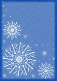 Snowflakes. Frame with snowflakes Royalty Free Stock Image