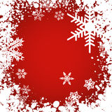 Snowflakes. Snowflake background with snowflakes and grunge style frame Royalty Free Stock Photos