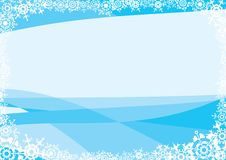 Snowflakes. A blue background for a card (letter). A vector illustration Stock Photography