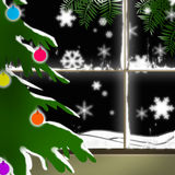 Snowflakes. Christmas tree snowflakes cold season Royalty Free Stock Image