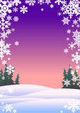 Snowflakes. Christmas greeting card, vector illustration royalty free illustration