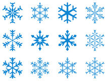 Snowflakes. Design collection of 12 artistic snowflakes Royalty Free Stock Photography