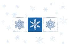 Snowflakes. Christmas card illustration vector illustration