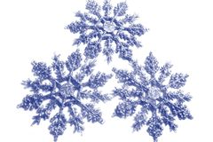 Snowflakes. Tree snowflakes Stock Illustration
