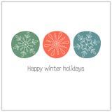 Snowflakes Στοκ Φωτογραφίες