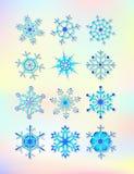 snowflakes vektor illustrationer