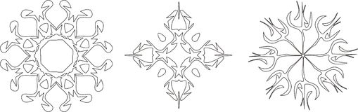 Snowflakes. Christmas objects. Vector illustration Royalty Free Stock Photo