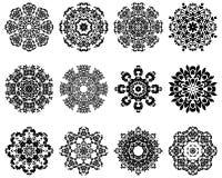 12 snowflakes Royaltyfri Bild