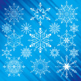Snowflakes. Traditional Style, editable vector illustration Royalty Free Stock Images