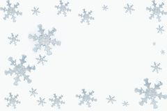 Snowflakes. Artificial snowflakes isolated on white Royalty Free Stock Photography