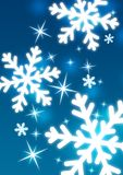 Snowflakes. Decorative snowflakes on a blue background Stock Photography